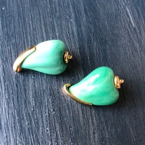 Vintage jade earrings by Givenchy